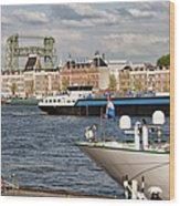 City Of Rotterdam Urban Scenery Wood Print
