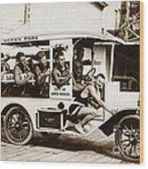 City Of Santa Monica Life Saveing Service Ocean Park Circa 1917 Wood Print