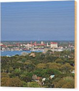 City Of St Augustine Florida Wood Print