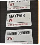 City Of Westminster Wood Print