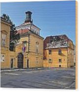 City Of Zagreb Historic Upper Town Wood Print