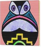 City Owl Wood Print