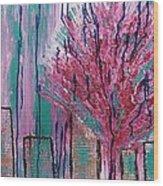 City Pear Tree Wood Print