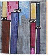 City People Wood Print by Kip Krause