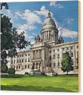 City - Providence Ri - The Capitol  Wood Print