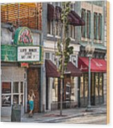 City - Roanoke Va - Down One Fine Street  Wood Print by Mike Savad