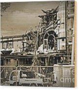 City Ruins Wood Print