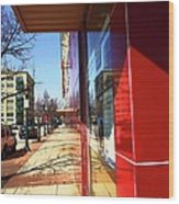 City Sidewalk Wood Print
