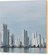 City Skyline, Castillogrande Wood Print