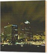 City Skyline With Milwaukee Art Museum Wood Print