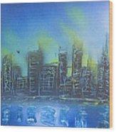 City Spray II Wood Print