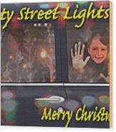 City Street Lights Wood Print