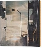 City Sunset 1 Wood Print