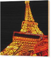 City - Vegas - Paris - Eiffel Tower Restaurant Wood Print