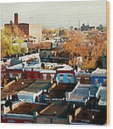 City View Six Wood Print