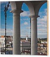 City Viewed Through From The Santa Wood Print