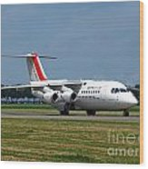 Cityjet British Aerospace Avro Rj85 Wood Print