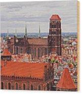 Cityscape Of Gdansk Wood Print
