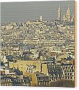 Cityscape Of Paris Paris, France Wood Print by Ingrid Rasmussen