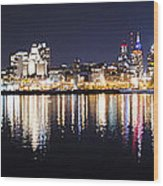 Cityscape - Philadelphia Wood Print