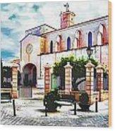 Ciutadella Church Wood Print