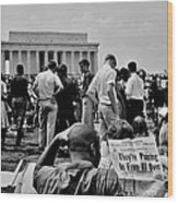Civil Rights Occupiers Wood Print