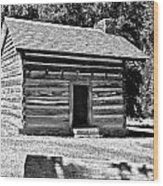 Civil War Cabin Wood Print