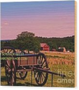 Civil War Caisson At Gettysburg Wood Print