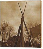 Civil War Camp Wood Print