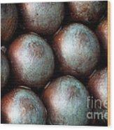 Civil War Cannon Balls Wood Print