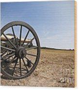 Civil War Cannon Wood Print