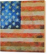 Civil War Flag Wood Print