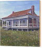 Civil War House Mansfield Louisiana Wood Print by Lenora  De Lude