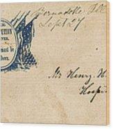 Civil War Letter 25 Wood Print