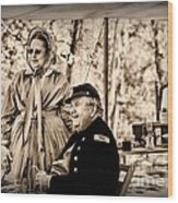 Civil War Officer And Wife Wood Print
