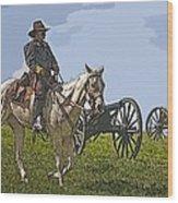 Civil War Officer Wood Print