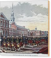 Civil War Philadelphia Zouave Corps Wood Print