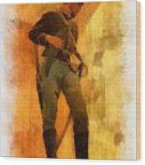 Civil War Soldier Photo Art Wood Print