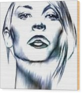 Claire Danes Wood Print by Wu Wei