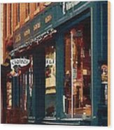 Claire's On College Street Wood Print