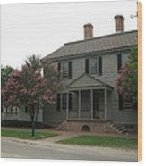 Clapboard House Colonial Williamsburg Wood Print