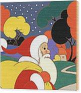 Clarice Cliff Santa Wood Print