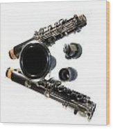 Clarinet Wood Print