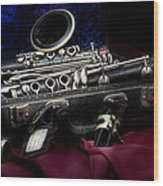 Clarinet Still Life Wood Print by Tom Mc Nemar
