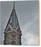 Clarion Clock Tower Wood Print