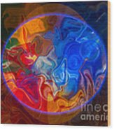 Clarity In The Midst Of Confusion Abstract Healing Art Wood Print