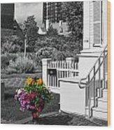 Clark House Flowers 2 Wood Print