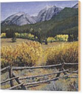 Clark Peak Wood Print by Mary Giacomini