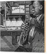 Jazz Clark Terry Wood Print