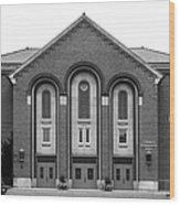 Clarke University Donaghoe Hall Theater Wood Print by University Icons
